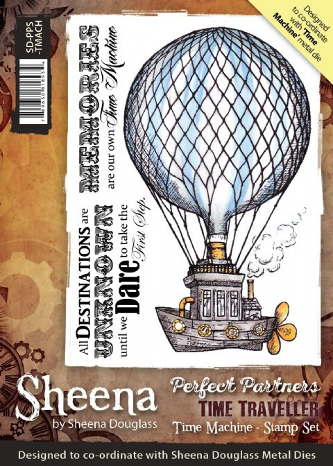 Sheena Douglass Perfect Partners Time Traveller - Time Machine Stamp
